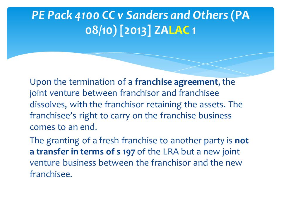 PE Pack 4100 CC v Sanders and Others (PA 08/10) [2013] ZALAC 1